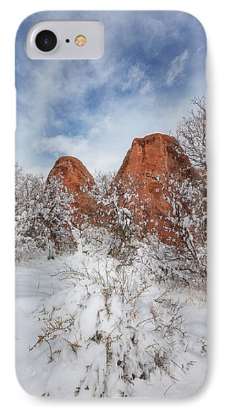 Spring Snow IPhone Case by Darren  White