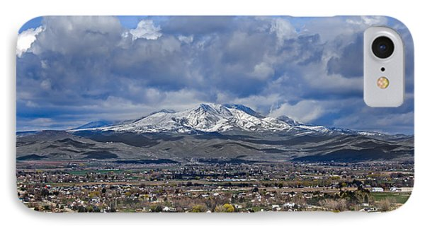 Spring Snow On Squaw Butte IPhone Case by Robert Bales