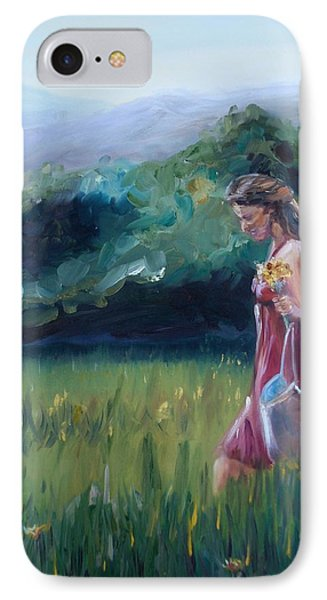 IPhone Case featuring the painting Spring Stroll by Donna Tuten