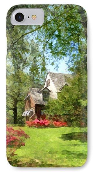 Spring - Suburban House With Azaleas Phone Case by Susan Savad