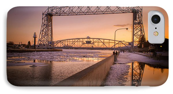 Spring Sunset In Canal Park IPhone Case by Mark David Zahn