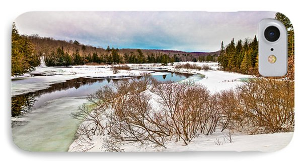 Spring Thaw At The Green Bridge IPhone Case by David Patterson
