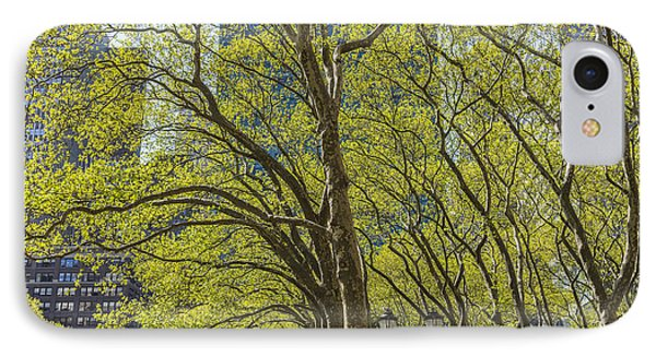 Spring Time In Bryant Park New York Phone Case by Angela A Stanton