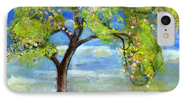 Spring Tree Art IPhone Case by Blenda Studio