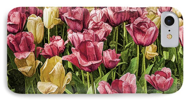 IPhone Case featuring the photograph Spring Tulips by Linda Blair