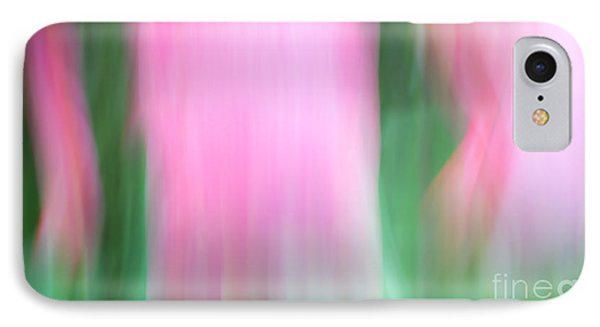 Spring Tulips Motion Blur Abstract IPhone Case by Edward Fielding