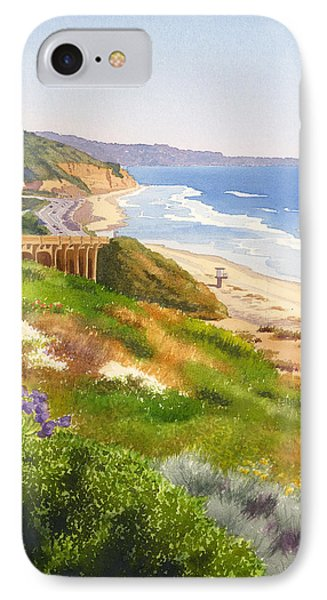 Pacific Ocean iPhone 7 Case - Spring View Of Torrey Pines by Mary Helmreich