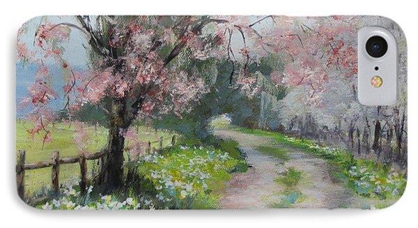 Spring Walk Phone Case by Karen Ilari