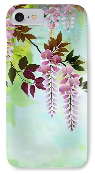Spring Wisteria IPhone Case by Bedros Awak