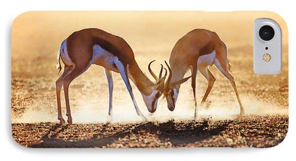 Springbok Dual In Dust IPhone Case by Johan Swanepoel