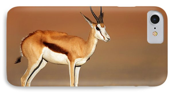 Springbok On Sandy Desert Plains Phone Case by Johan Swanepoel