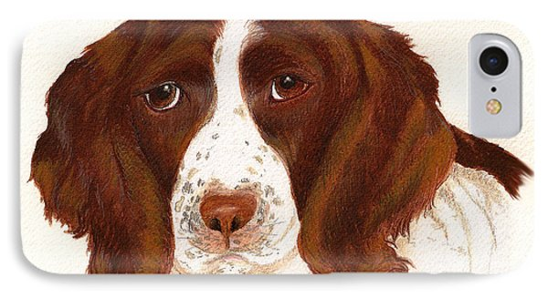 IPhone Case featuring the painting Springer Spaniel  by Nan Wright
