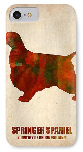 Springer Spaniel Poster IPhone Case by Naxart Studio