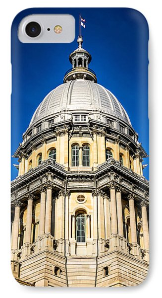 Springfield Illinois State Capitol Dome Phone Case by Paul Velgos