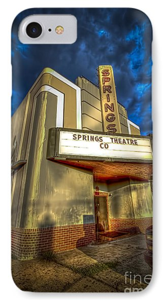 Springs Theater Co IPhone Case by Marvin Spates