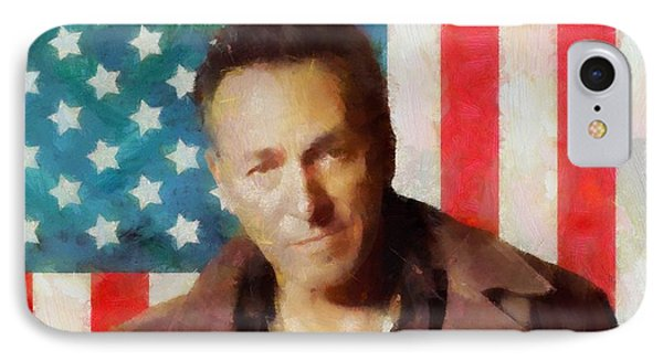 Springsteen American Icon IPhone Case by Dan Sproul