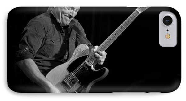 Springsteen Shreds Bw IPhone Case by Jeff Ross