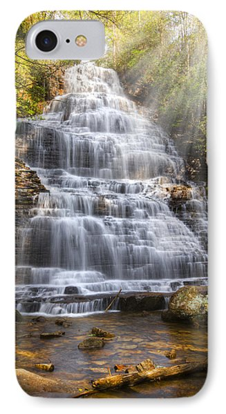 Springtime At Benton Falls Phone Case by Debra and Dave Vanderlaan