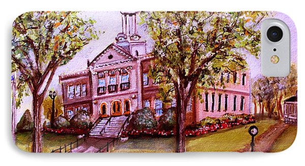 IPhone Case featuring the painting Springtime In The City Of Waltham by Rita Brown