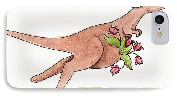 Springtime Kangaroo Phone Case by Christy Beckwith