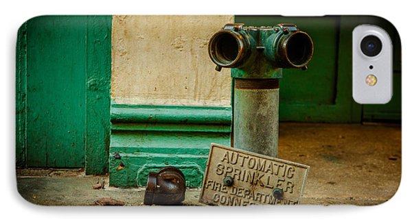 Sprinkler Green IPhone Case by Melinda Ledsome