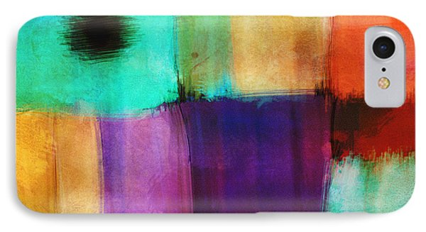 Square Abstract Study Three  Phone Case by Ann Powell