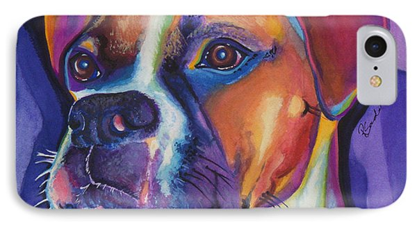 Square Boxer Portrait IPhone Case by Robyn Saunders
