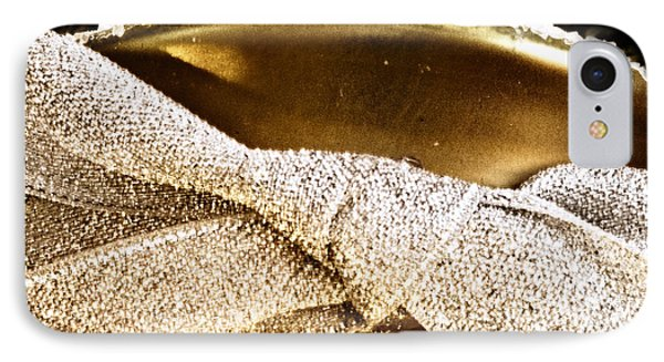 Square Gold Champagne Ornament IPhone Case by Birgit Tyrrell