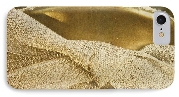 Square Gold Vintage Champagne Ornament IPhone Case by Birgit Tyrrell
