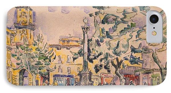 Square Of The Hotel De Ville IPhone Case by Paul Signac