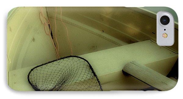 Square Polaroid Fishing Boat Phone Case by Birgit Tyrrell