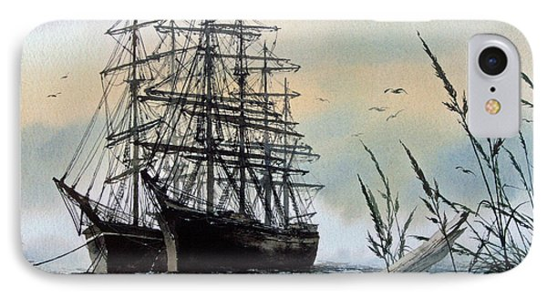 Squarerigger Cove IPhone Case by James Williamson