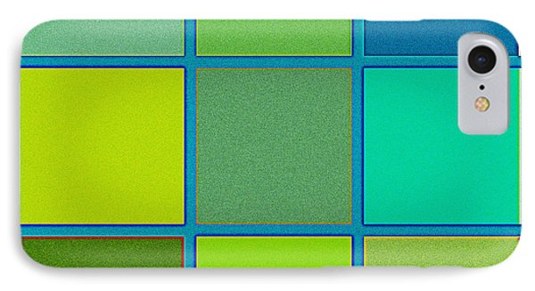 Squares - Green IPhone Case