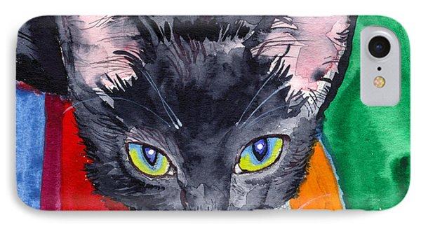 Squeak The Wonder Cat IPhone Case by John Norman Stewart