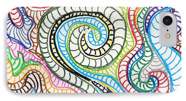 IPhone Case featuring the painting Squiggle Snake by Artists With Autism Inc
