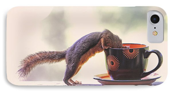 Squirrel And Coffee IPhone Case