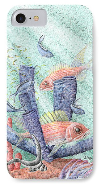 Squirrel Fish Reef Phone Case by Wayne Hardee