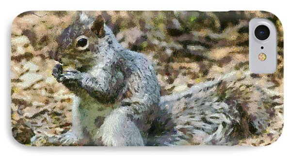 Squirrel In Central Park Phone Case by George Atsametakis