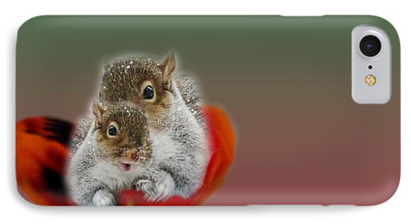 Squirrels Valentine IPhone Case by Mike Breau