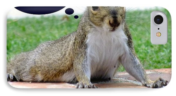 Squirrely Push Ups Phone Case by Karen Wiles
