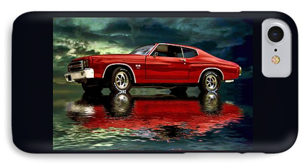 IPhone Case featuring the photograph Chevelle 454 by Steven Agius