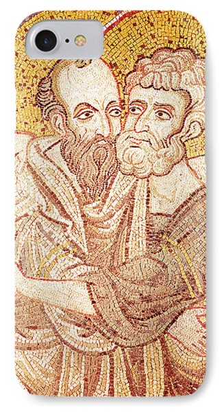 Saints Peter And Paul Embracing IPhone Case by Byzantine School