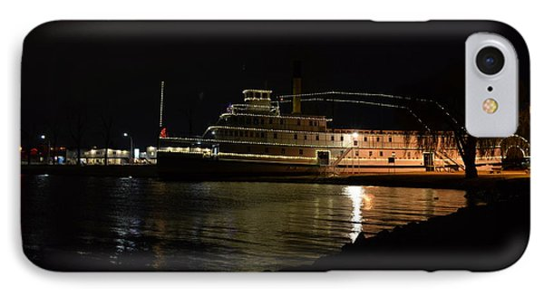 Ss Sicamous - Night Shot IPhone Case by Guy Hoffman