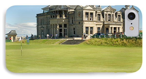 St Andrews Final Green And Clubhouse  IPhone Case by Jeremy Voisey