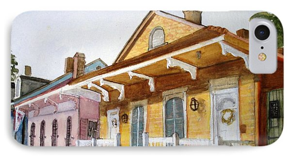 IPhone Case featuring the painting St. Ann Street Scene - French Quarter by June Holwell