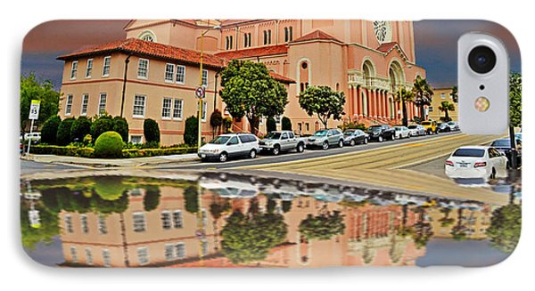 St Anne Church Of The Sunset In San Francisco With A Reflection  IPhone Case by Jim Fitzpatrick