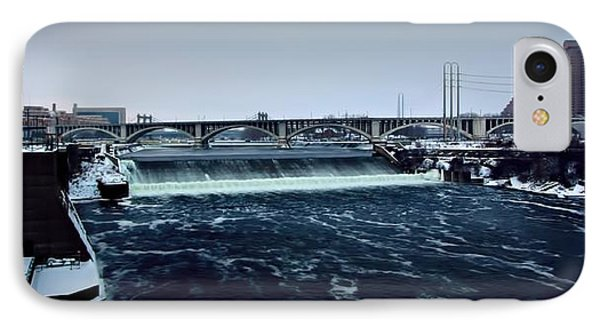 St Anthony Falls Minneapolis IPhone Case by Amanda Stadther