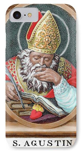 St Augustine (354-430 IPhone Case by Prisma Archivo