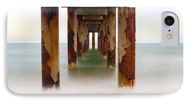 St. Augustine Beach Pier IPhone Case by Marion Johnson