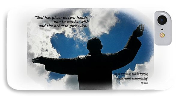 St Augustine Billy Graham Quote IPhone Case